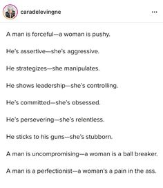 How the same issue is viewed as men and women