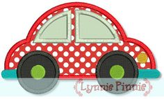 Embroidery Designs - Car Applique 4x4 5x7 6x10 - Welcome to Lynnie Pinnie.com! Instant download and free applique machine embroidery designs in PES, HUS, JEF, DST, EXP, VIP, XXX AND ART formats.