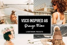 VSCO A6 #ORANGE #GOLD #PRESET - Actions