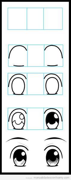 Cómo dibujar ojos en muñecas de goma eva, muy fácil y paso a paso | Manualidades con Foamy | Fotos, vídeos, tutoriales e ideas para hacer manualidades con foamy para niños X