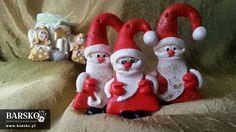 Mikołaje z masy solnej Salt Dough, My Works, Elf On The Shelf, Santa, Christmas Ornaments, Holiday Decor, Home Decor, Decoration Home, Room Decor