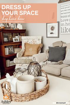 Wrap up your #farmhouse space like a present with adorable décor!  If your space feels empty and needs more coziness, experiment with accents like throw pillows or blankets. Décor tip: follow a cohesive color palette to keep the room clean and coordinated. For more #homedecor tips and tricks, check out our pins! Decor, Farmhouse Living Room Furniture, Formal Living Rooms, Living Room Decor Apartment, Living Room Designs, Room, Living Room Furniture, Room Decor, Apartment Decor