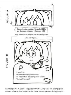 Samuel werkje Bible Stories For Kids, Bible Crafts For Kids, Activities For Kids, Samson Bible, Hannah Bible, Toddler Sunday School, Sunday School Coloring Pages, Bible Lessons, Sketches
