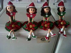 lindas muñecas Hechas con foami, Fomy.  goma eva párrafo d Esta Navidad
