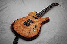 Tsmith single cut guitar with insane burl maple top.