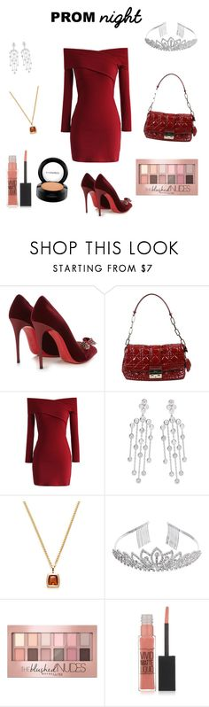 """Antoinette's Senior Prom Outfit"" by lilqute ❤ liked on Polyvore featuring Christian Louboutin, Christian Dior, Chicwish, Cartier, Crystal Allure, Maybelline and MAC Cosmetics"