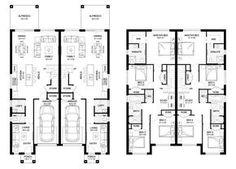 Oak 42 - Duplex Level - Floorplan by Kurmond Homes - New Home Builders Sydney NSW Town House Floor Plan, Model House Plan, Duplex Floor Plans, Apartment Floor Plans, Townhouse Designs, Duplex House Design, House Plans And More, Family House Plans, Cluster House