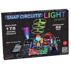 snap circuits are a toy that teaches electricity this set hooks up to their iphone - Cool Electronic Christmas Gifts