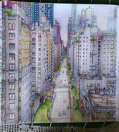 Finished Product Adultcoloringbook Stevemcdonald Fantasticcities