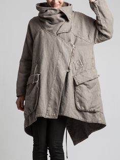 VERY THICK RUSTIC COTTON COAT WITH POLAR LINING - JACKETS, JUMPSUITS, DRESSES, TROUSERS, SKIRTS, JERSEY, KNITWEAR, ACCESORIES - Woman -