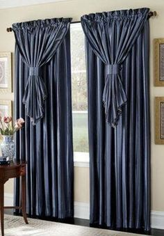 Browse our huge collection of curtains and draperies, from window valances and drapes to floral curtains and stylish sets in every color. Buy now, pay later. Decor, Curtains With Blinds, Window Decor, Drapes Curtains, Home Decor, Curtains, Curtains And Draperies, Curtain Styles, Curtain Decor