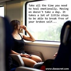 It takes time to heal... some of the biggest scars are emotional....my scars you can not see, few know this about me....