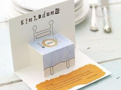 Do it yourself: Folded Card – invitation-to-eat – einladungen – birthday Card Invitation, Father's Day Diy, Christmas Party Invitations, Wedding Invitations, Diy Birthday, Gifts For Father, Diy Cards, Craft Cards, Christmas Fun