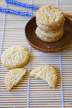 Japońskie ciasteczka imbirowe z sezamem | Filozofia Smaku