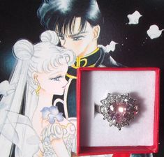 Usagi Tsukino engagement ring Sailor Moon size 7 by LolitaTortoise, $25.00