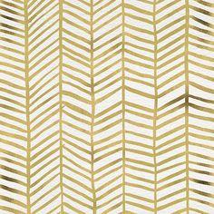 Gold Herringbone