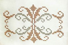 This Pin was discovered by suk Beaded Embroidery, Cross Stitch Embroidery, Embroidery Patterns, Hand Embroidery, Cross Stitch Borders, Cross Stitch Charts, Cross Stitch Patterns, Weaving Patterns, Knitting Patterns