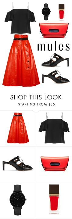 """That Red Leather Skirt!!"" by im-karla-with-a-k ❤ liked on Polyvore featuring Bottega Veneta, Fendi, The Row, CLUSE and Tom Ford"