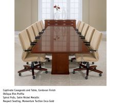 National Office Furniture - Captivate Table, with Respect task/work seating in conference room area.