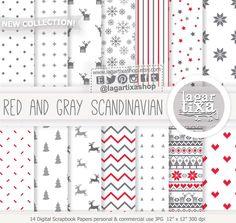 Un favorito personal de mi tienda Etsy https://www.etsy.com/mx/listing/484426145/fondos-digitales-gris-y-rojo-navidad New! #redchristmas #minimalism #Nordiques #scandinavia #uglysweater #knitting #digitalpaper #patterns #etsy