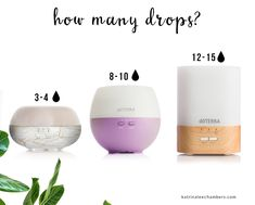 Here's a general guide on how many drops you can use in your doTERRA diffusers. Filling Your Diffuser Use clean, room-temperature tap water. Make sure the water level does not exceed the water mark. Add drops of doTERRA essential. Essential Oils Guide, Essential Oil Uses, Essential Oil Diffuser Blends, Aromatherapy Oils, Doterra Essential Oils, Doterra Blends, Osho, Diffusers, Mist Diffuser