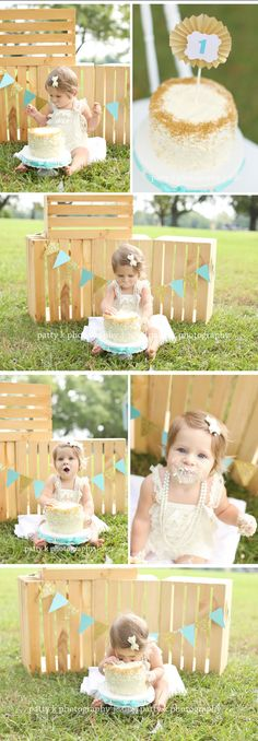 Cake Smash | Ella | Fayetteville, NC Photographer | Patty K Photography
