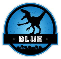 """""""Velociraptor Squad: Blue Team"""" Stickers by marslegarde Jurassic World Cake, Jurassic Movies, Jurassic Park Party, Jungle Party Decorations, Dinosaur Fossils, Mickey Party, Dinosaur Party, Classroom Themes, Squad"""