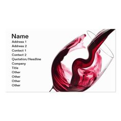 Twisted Flavour Red Wine Business Card