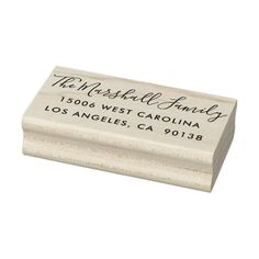 Shop Casual Script Custom Return Address Rubber Stamp created by beckynimoy.