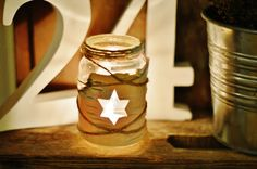 glass jar, tealight, DIY, reuse, birch bark
