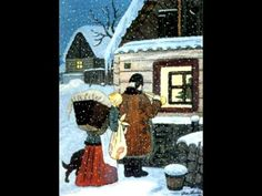 Czech Christmas theme, painted by the Czech painter Josef Lada His work portrays memories of his childhood in the village Hrušice, Czechoslovakia. Christmas Themes, Kids Christmas, Vintage Christmas, Prague Czech Republic, O Holy Night, Twelfth Night, Winter Theme, Winter Scenes, Xmas Cards
