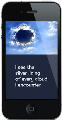 Another screenshot from the new Affirm Your Life iPhone app. Just one of over 2350!