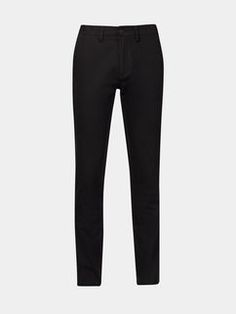 Black Stretch Slim Chinos