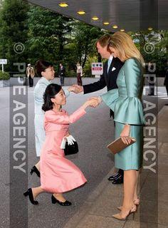 Queen Maxima and King Willem-Alexander with Princess Yoko and princess Akiko