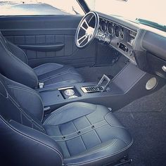 #BecauseSS chevelle custom interior console bucket seats