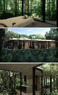 Stunning Modern Container House Design Ideas for Comfortable Life Every Day – Future House, Design Exterior, Casas Containers, Forest House, House Trees, Forest Hill, House Goals, Modern House Design, Modern Tree House
