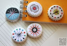 9. #Magnets - 10 Beautiful Ways to #Upcycle Bottle Caps ... → #Lifestyle #Plastic