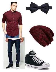"""""""Untitled #223"""" by infintykeeper on Polyvore featuring BoohooMAN, ASOS, MANGO, Converse and King & Fifth Supply Co."""