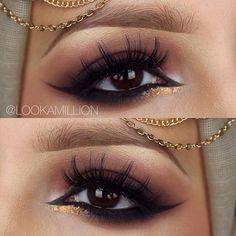 Dark Burgundy Smokey Eye + Car Eyeliner