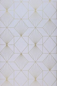 A geometric wallpaper with a vintage style. This art deco wallpaper uses a light purple background and shimmering bronze lines to create an intricate print. Arte Art Deco, Motif Art Deco, Art Deco Pattern, Art Deco Design, Pattern Design, Grey Pattern, Geometric Patterns, Textures Patterns, Print Patterns