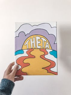Kappa Delta Canvas, Phi Mu Canvas, Sorority Canvas Paintings, Delta Gamma, Kappa Alpha Theta, Canvas Canvas, Alpha Chi, Theta Crafts, Sorority Crafts