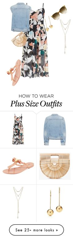 """""""Plus size summer casual date look"""" by xtrak on Polyvore featuring rag & bone, Melissa, Cult Gaia, Steven Alan and SUGARFIX by BaubleBar"""
