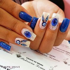 """No water, no life. No blue, no green"". Sylvia Earle #quotes #cute #inspiration #nails #manicure #thepronails"