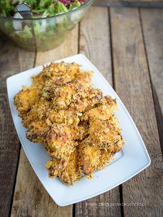 pieczone nuggetsy Chow Mein, Kiwi, Cauliflower, Chicken, Vegetables, Food, Diet, Kitchens, Cauliflowers