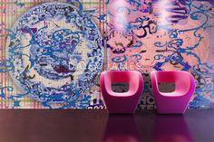 DAISY JAMES wallcover Pink #interiordesign #Luxuryhouses #officedesign