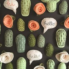 Going through a bit of a plant obsession right now and these fit right in. : Going through a bit of a plant obsession right now and these fit right in. Cute Crafts, Felt Crafts, Diy And Crafts, Crafts For Kids, Paper Crafts, Diy Projects To Try, Craft Projects, Cactus Craft, Cactus Cactus