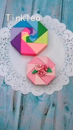Make Your Own Rose Gift Box with Paper with The Help of This Video. Diy Crafts Hacks, Diy Crafts For Gifts, Diy Arts And Crafts, Diy Crafts Videos, Crafts To Do, Creative Crafts, Hobbies And Crafts, Kids Crafts, Diy Projects To Do At Home