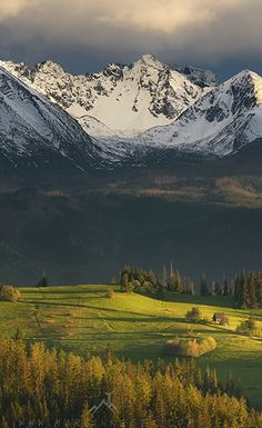 The beautiful and majestic Tatra Mountains, Poland