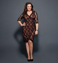 kiyonna | Plus Size Kiyonna Gigi Lace Cinch Dress | eBay