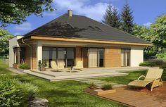 projekt Alabama 2 wersja D z podwójnym garażem WRD2325 Home Garden Design, Home And Garden, Cute Designs, Alabama, Gazebo, Beach House, House Plans, Outdoor Structures, How To Plan